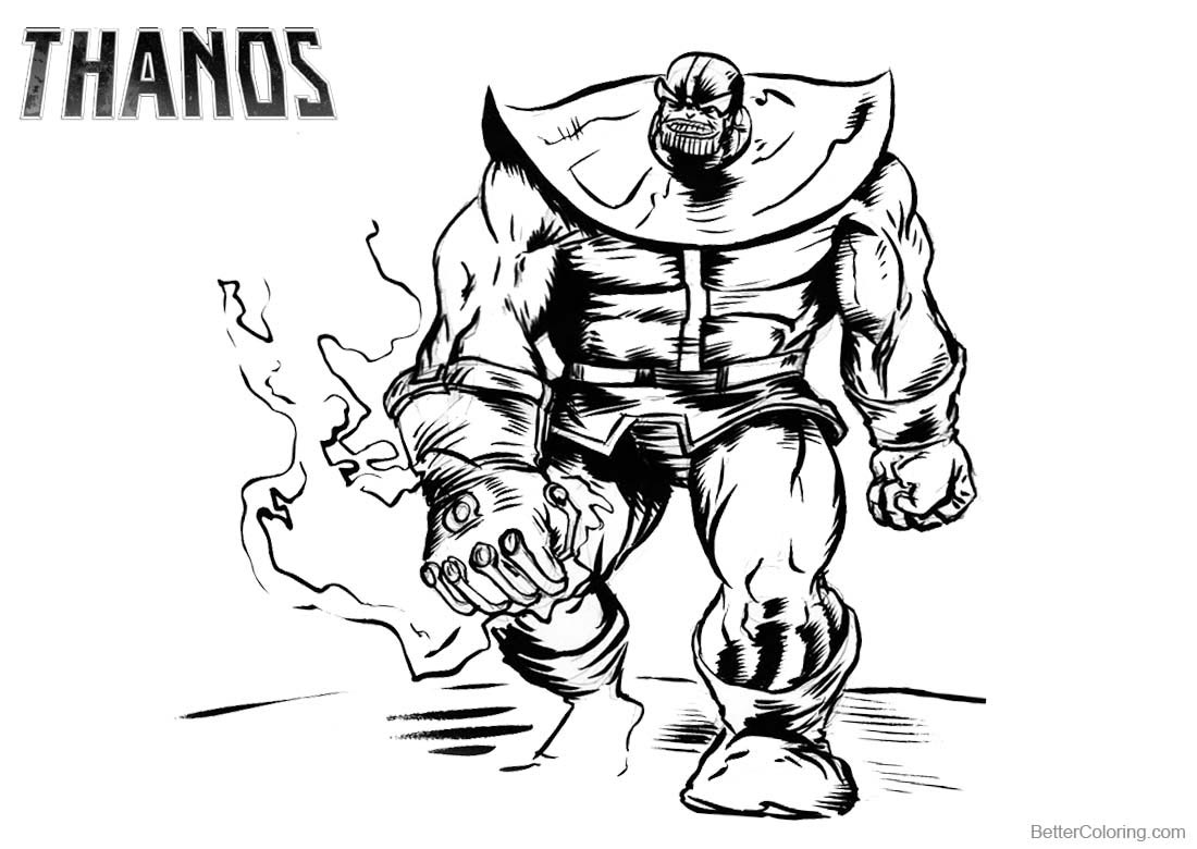 Thanos Coloring Pages Fanart printable for free