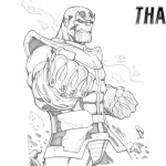 Thanos Coloring Pages Hand Drawing