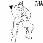 Thanos Coloring Pages Line Drawing