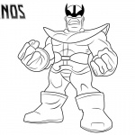 Thanos Coloring Pages Lineart