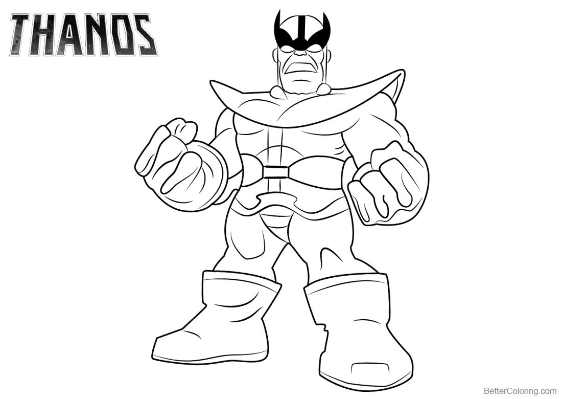 Thanos Coloring Pages Lineart - Free Printable Coloring Pages