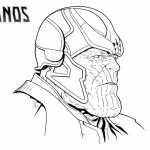 Thanos Coloring Pages Mad Titan