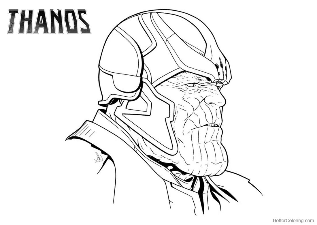 Superhero Thanos Coloring Pages: Thanos Coloring Pages Mad Titan