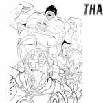 Thanos Coloring Pages Marvel Characters