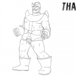 Thanos Coloring Pages Simple Drawing