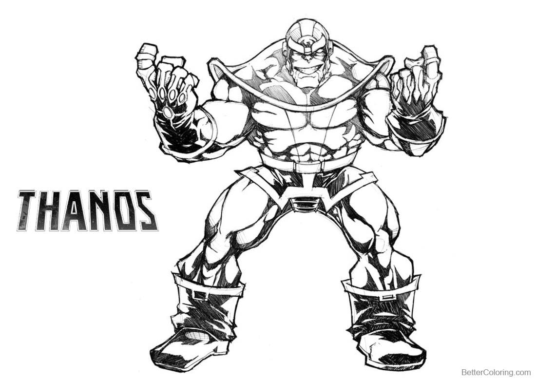Thanos Coloring Pages Sketch