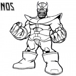 Thanos Coloring Pages from Marvel Avengers
