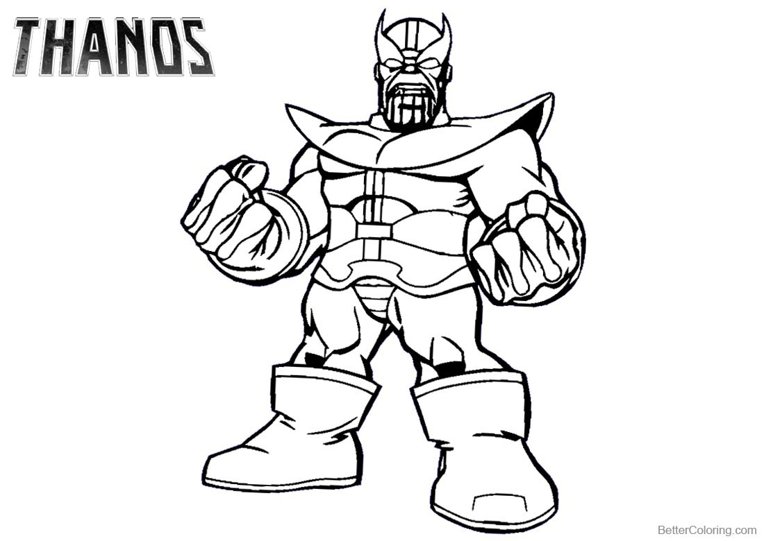 Superhero Thanos Coloring Pages