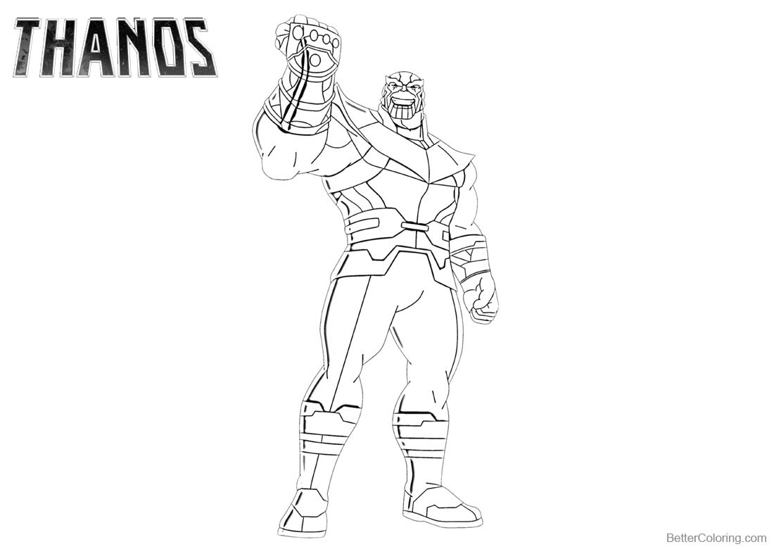 Thanos Coloring Pages Free Printable