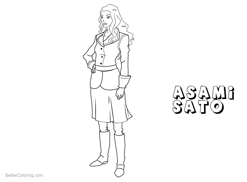 free legend of korra coloring pages | The Legend of Korra Coloring Pages Asami Sato - Free ...