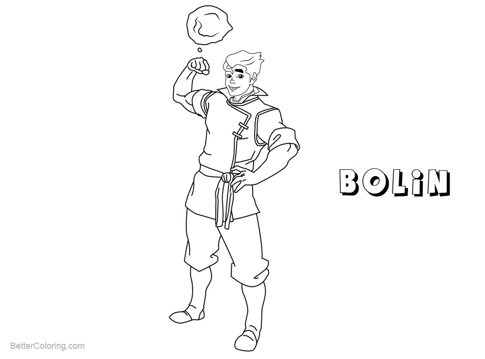 Free The Legend of Korra Coloring Pages Bolin printable