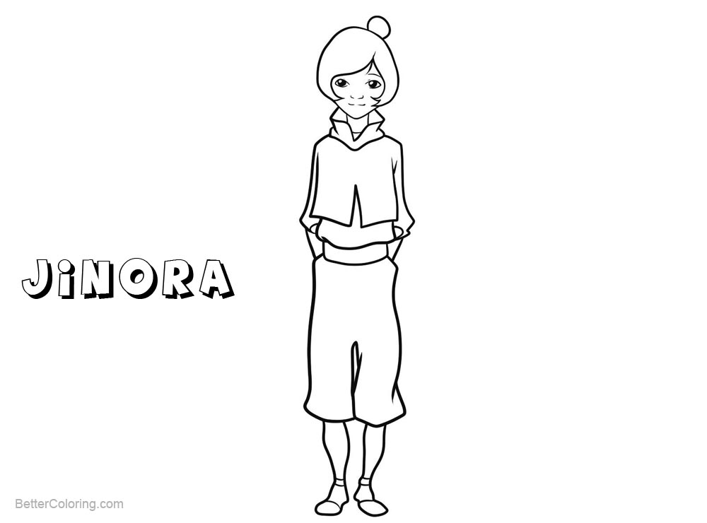 Free The Legend of Korra Coloring Pages Character Jinora printable