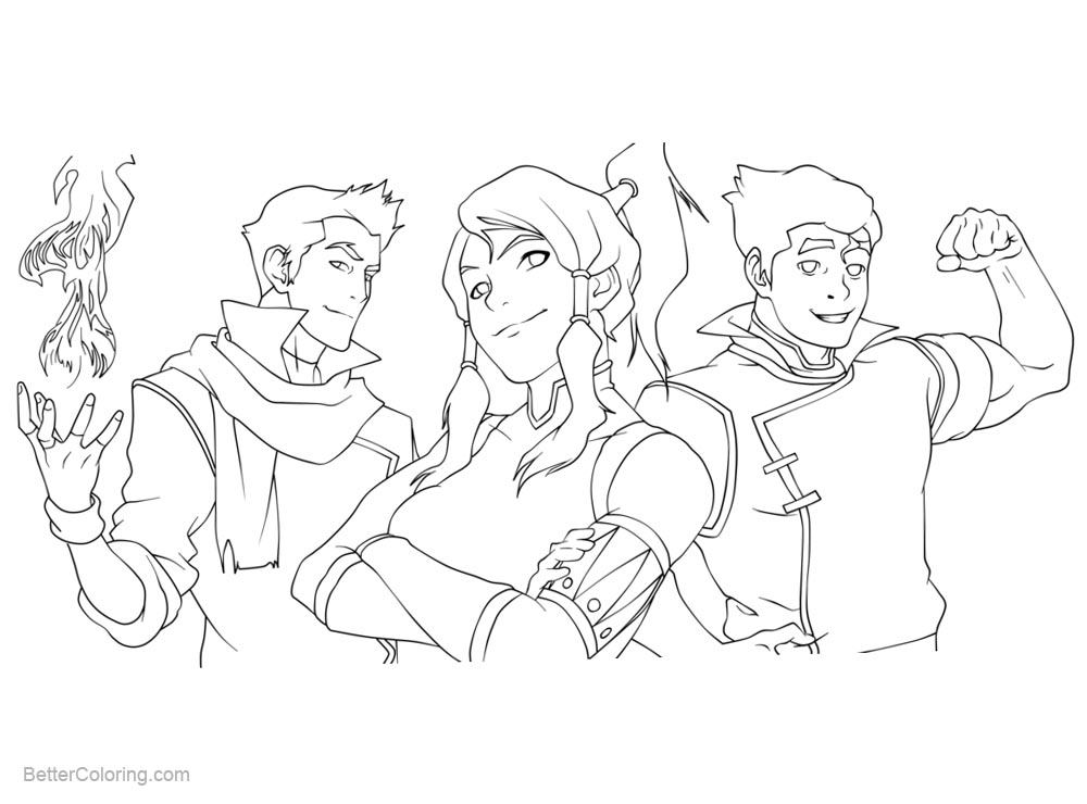 Free The Legend of Korra Coloring Pages Fanart by MiloPanic printable