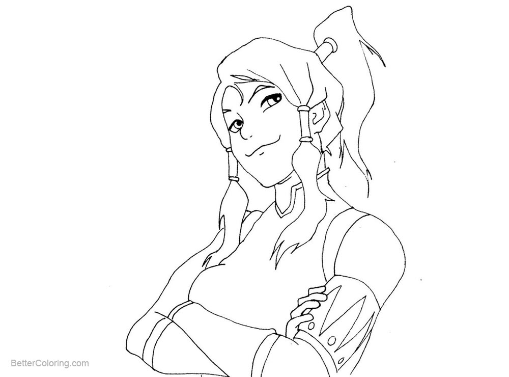 The Legend of Korra Coloring Pages Korra Drawing by ...