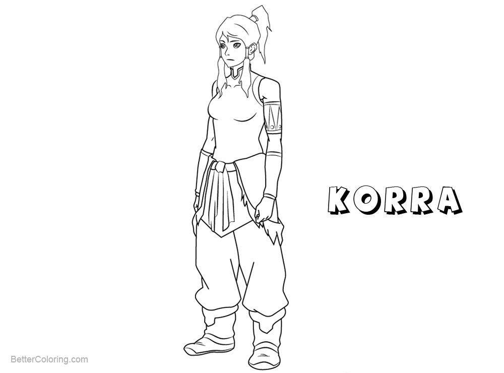 Free The Legend of Korra Coloring Pages Korra printable