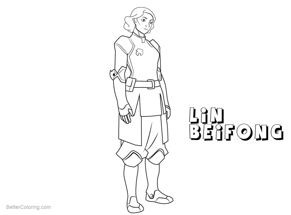 Free The Legend of Korra Coloring Pages Lin Beifong printable