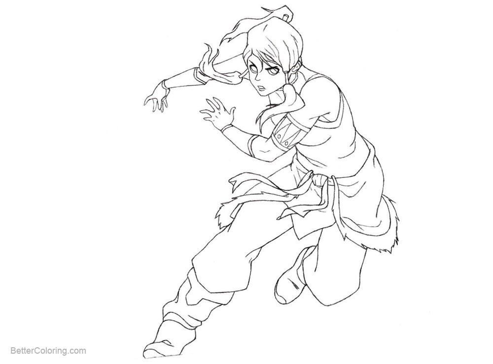 Free The Legend of Korra Coloring Pages Line Art by xMezMezx on DeviantArt printable