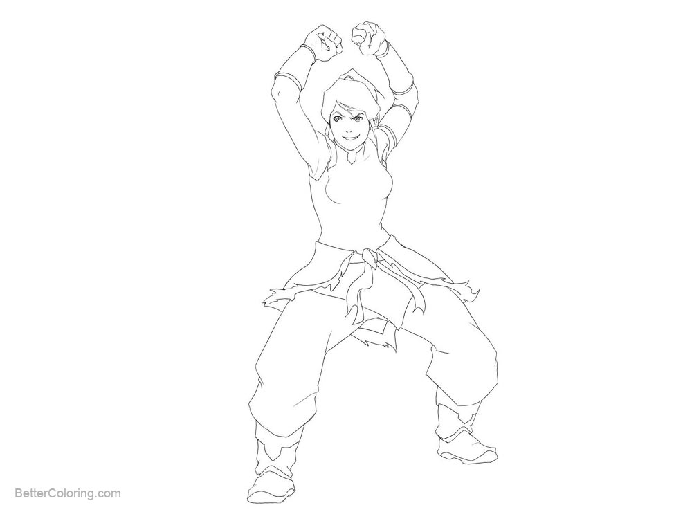 Free The Legend of Korra Coloring Pages by Aleana printable