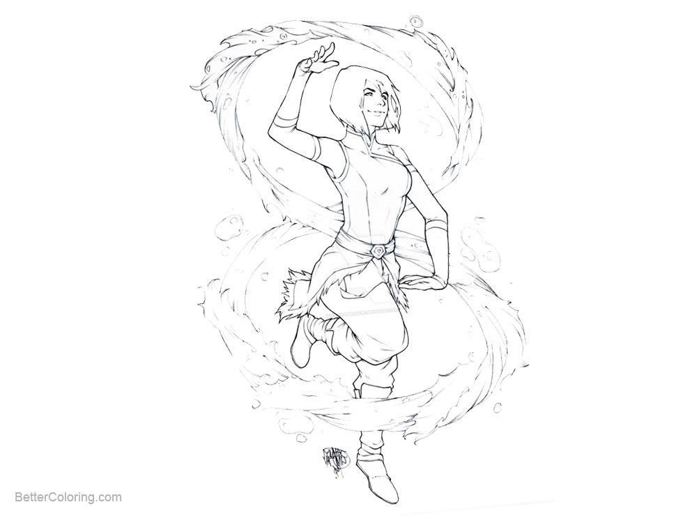 Free The Legend of Korra Coloring Pages by ArtisticPhun printable