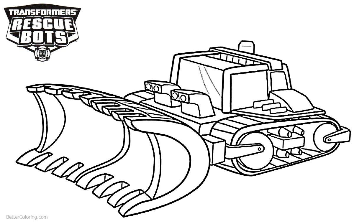 Transformers Rescue Bots Boulder Coloring Pages Free