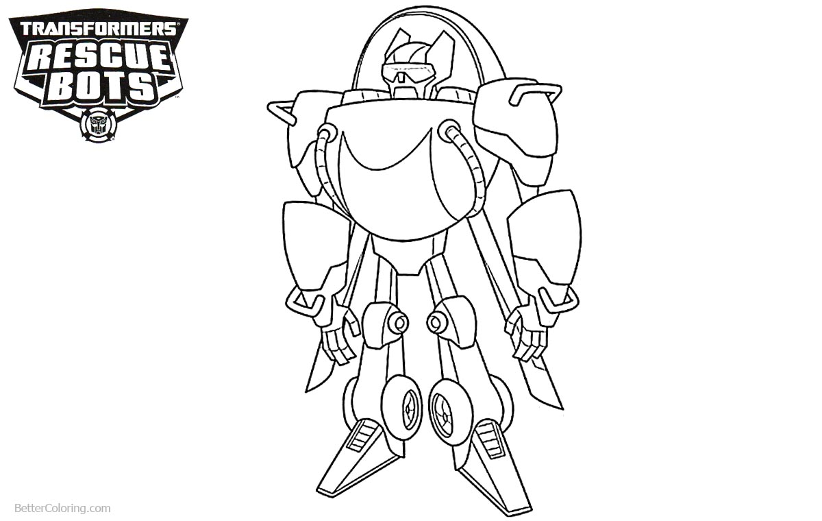 Transformers Rescue Bots Coloring Pages Blades printable for free