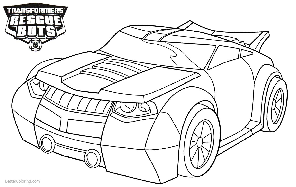 Transformers Rescue Bots Coloring Pages Bumblebee printable for free