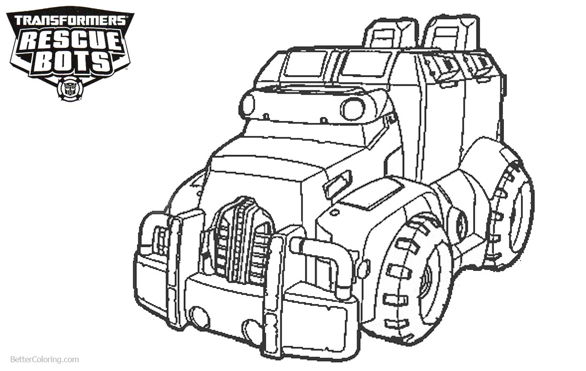 Transformers Rescue Bots Coloring Pages Car printable for free