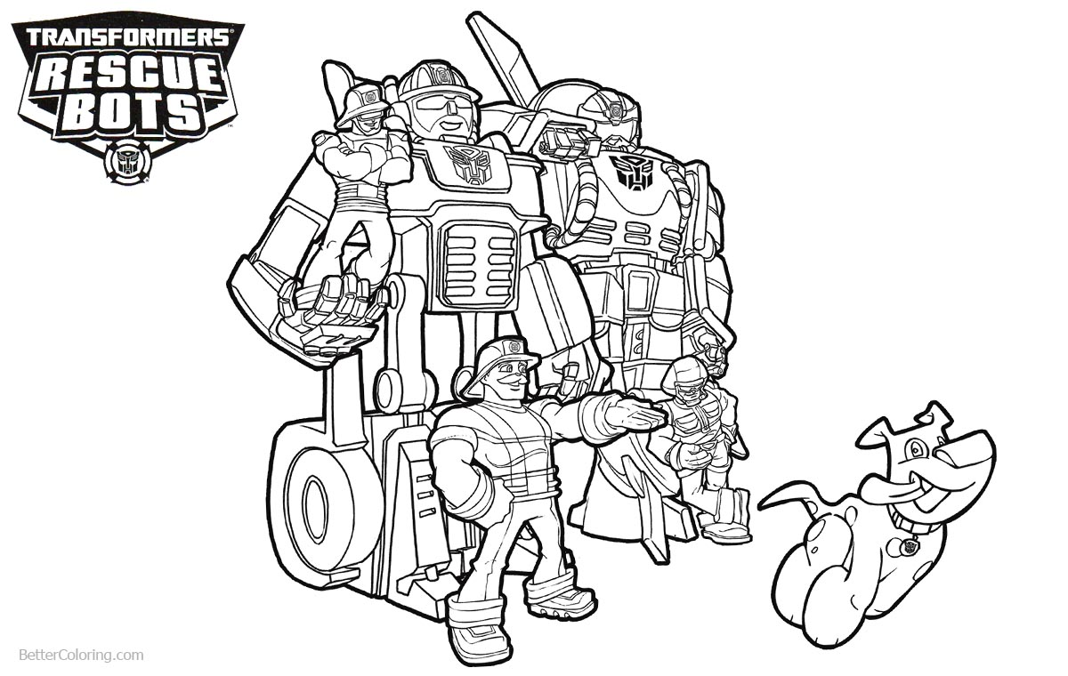 Transformers rescue bots coloring pages characters free for Rescue bots heatwave coloring page