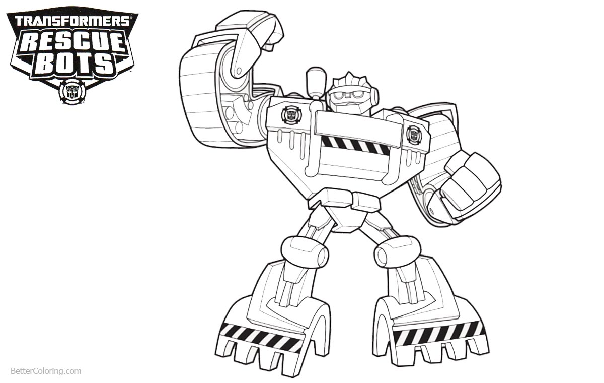 Transformers Rescue Bots Coloring Pages Clipart Free