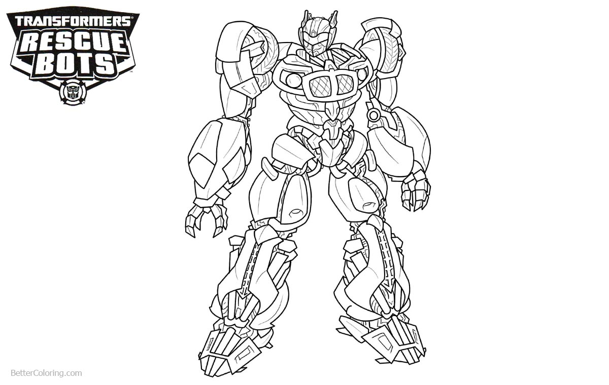 Transformers rescue bots coloring pages heatwave free for Rescue bots heatwave coloring page