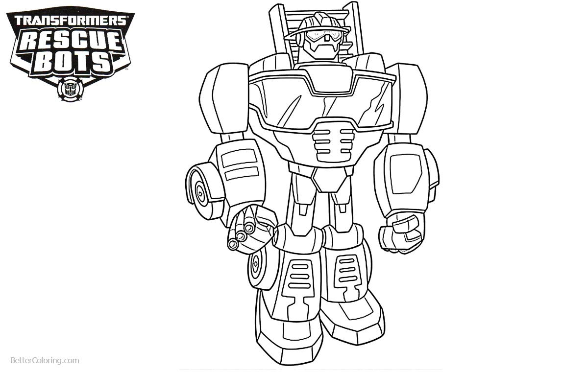 Transformers Rescue Bots Coloring Pages Lineart Free