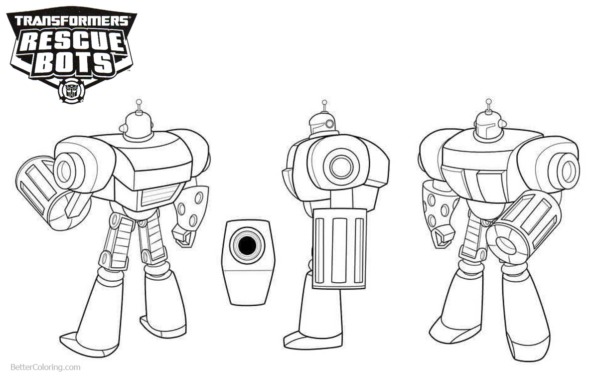 Transformers Rescue Bots Coloring Pages Morbot printable for free