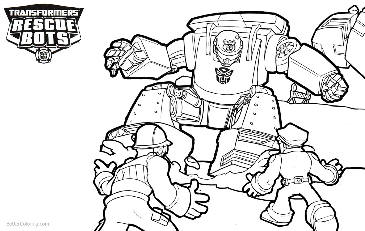 Transformers Rescue Bots Coloring Pages Working printable for free