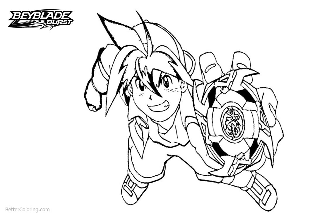 Free Tyson from Beyblade Burst Coloring Pages printable