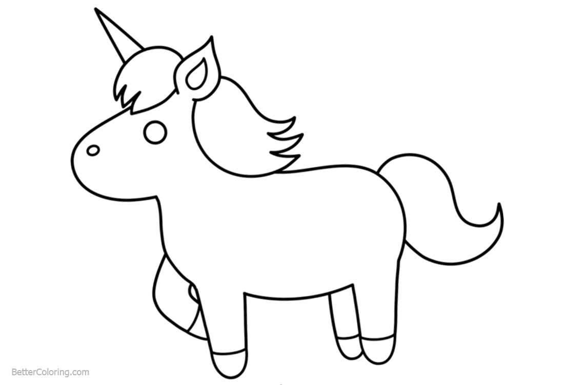 Unicorn Coloring Pages Chibi Lineart Free Printable