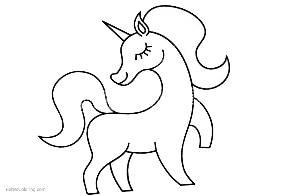 Imagenes Para Niños Para Colorear Faciles: Unicorn Coloring Pages Easy Drawing