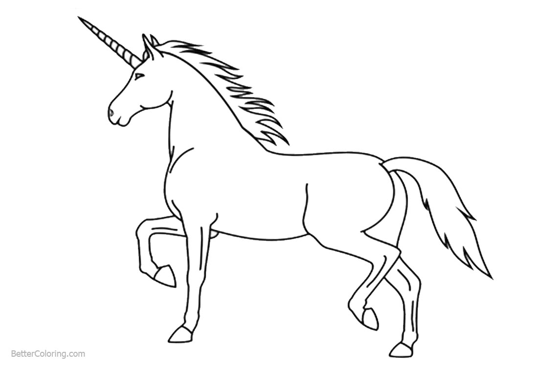 Unicorn Coloring Pages Easy Lineart printable for free
