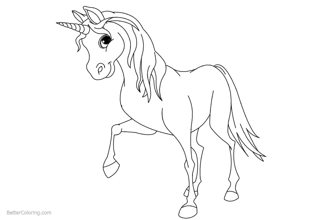 Unicorn Coloring Pages Eyes on You printable for free
