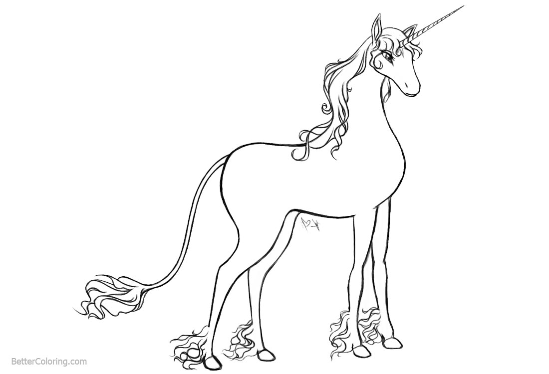 Unicorn Coloring Pages Female printable for free
