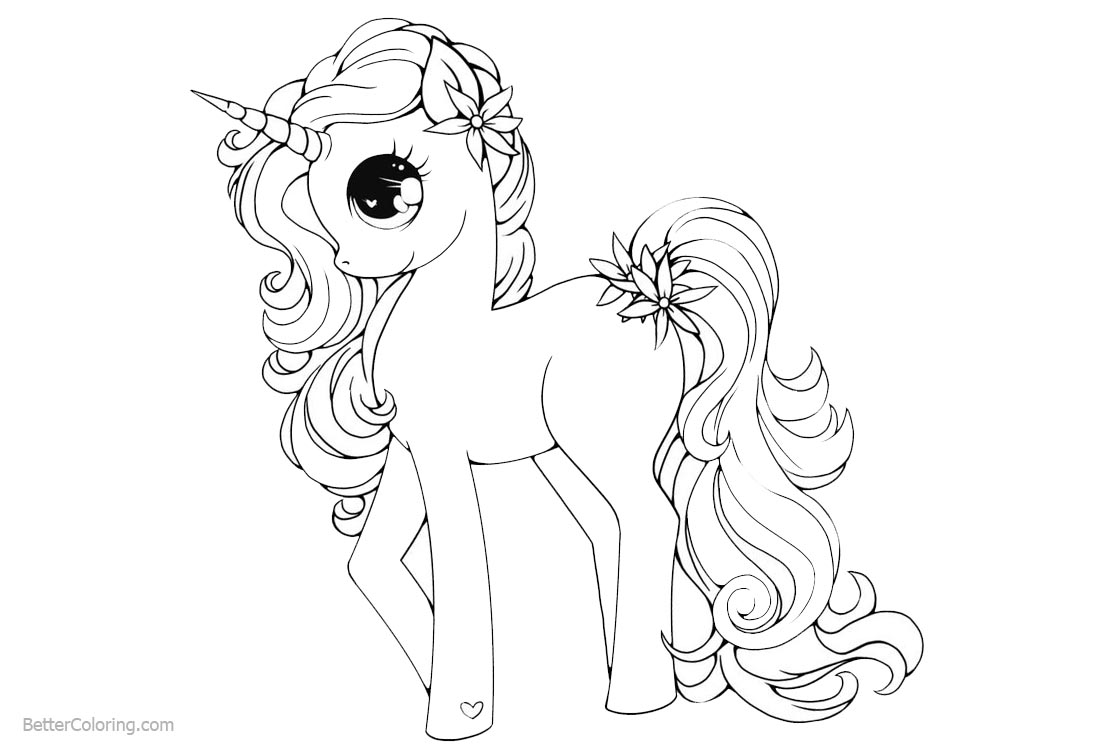 unicorns coloring pages for kids | Unicorn Coloring Pages My Little Pony Style - Free ...