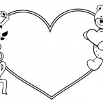 Valentines Day Coloring Pages Roses and Teddy Bear