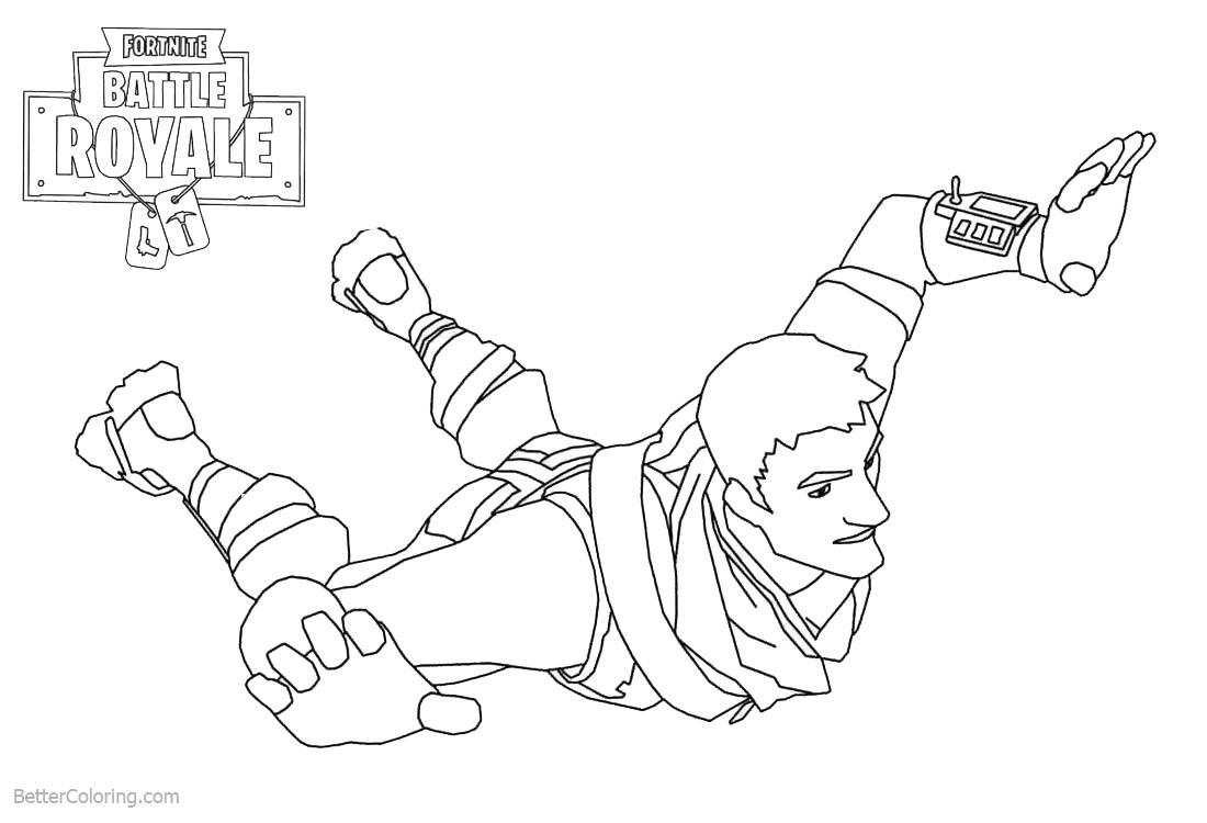 Warlord from Fortnite Coloring Pages printable for free