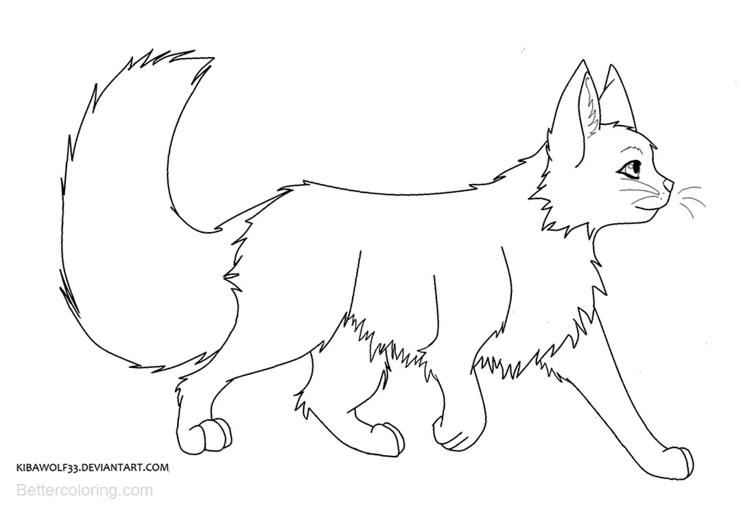 Free Warrior Cats Coloring Pages Big Tail printable
