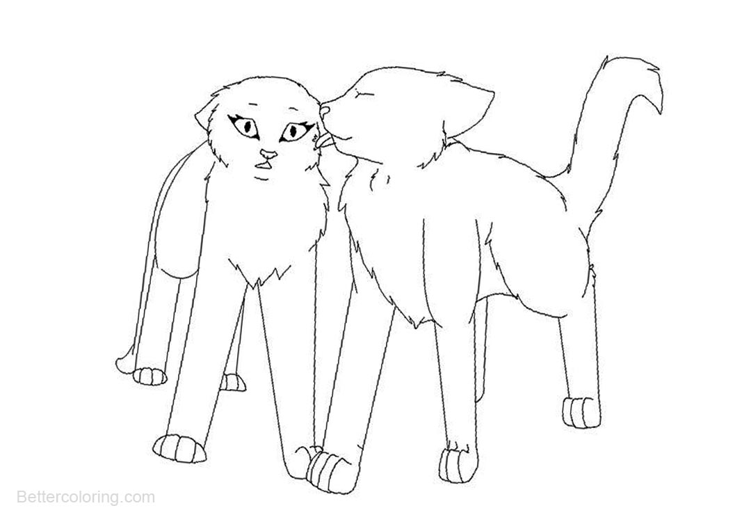 Free Warrior Cats Coloring Pages Kissing printable