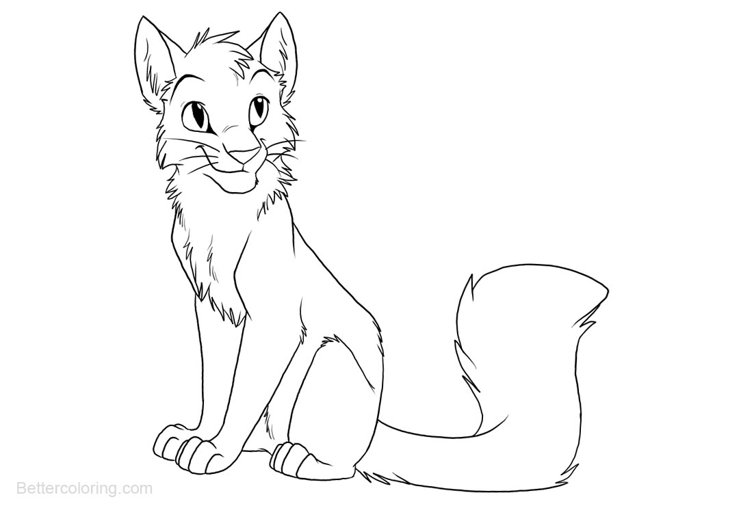 Free Warrior Cats Coloring Pages Lineart printable