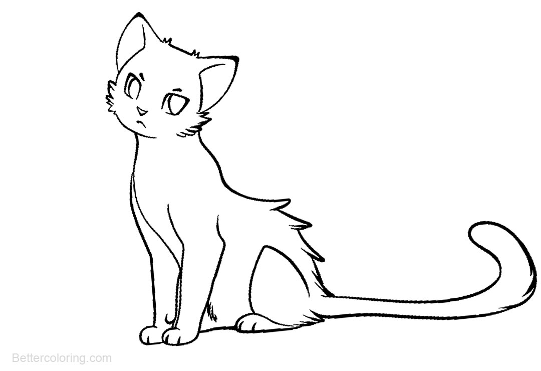 Free Warrior Cats Coloring Pages Outline printable