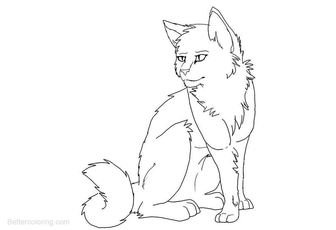 Free Warrior Cats Coloring Pages Realistic Drawing printable