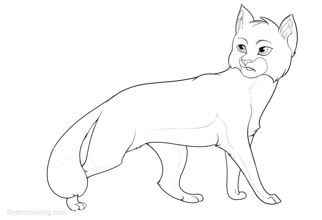 Warrior Cats Coloring Pages Simple Drawing Free Printable