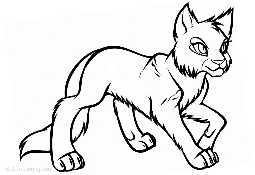 Free Warrior Cats Coloring Pages Sketch printable