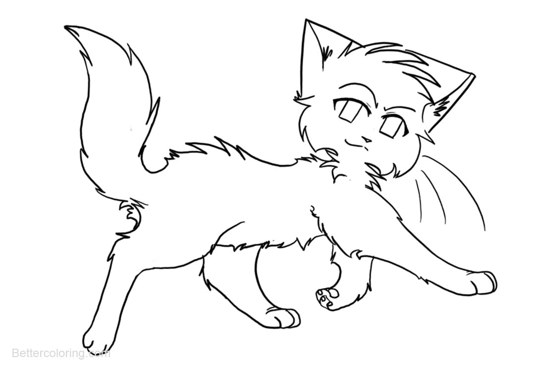 Free Warrior Cats Coloring Pages Walking printable